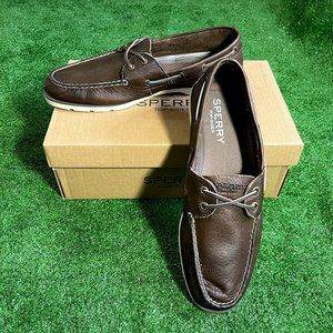 Sperry Top Sider Leeward Boat Brown Shoes 11.5 NEW